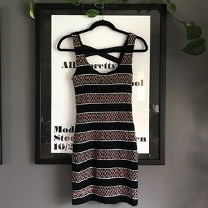 Reverse striped black & rainbow mini dress 🌈🖤